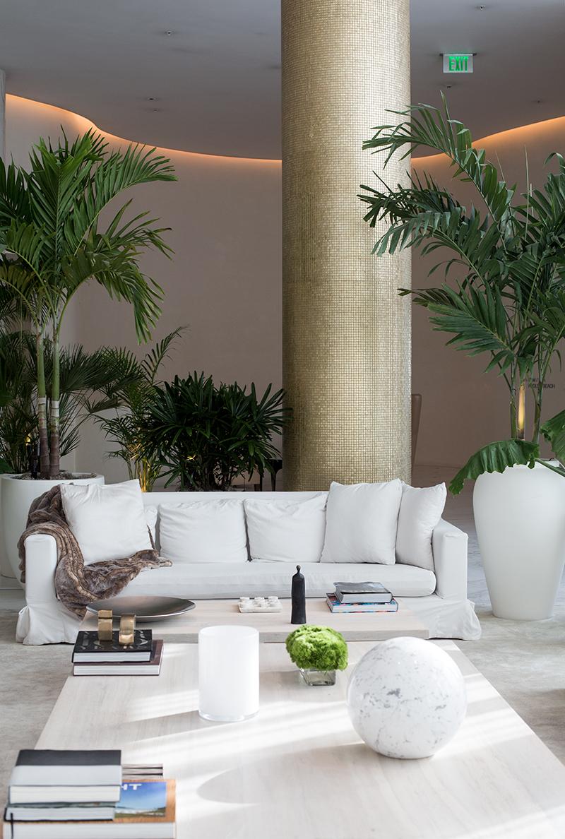 The gorgeous Lobby at The Miami Beach EDITION