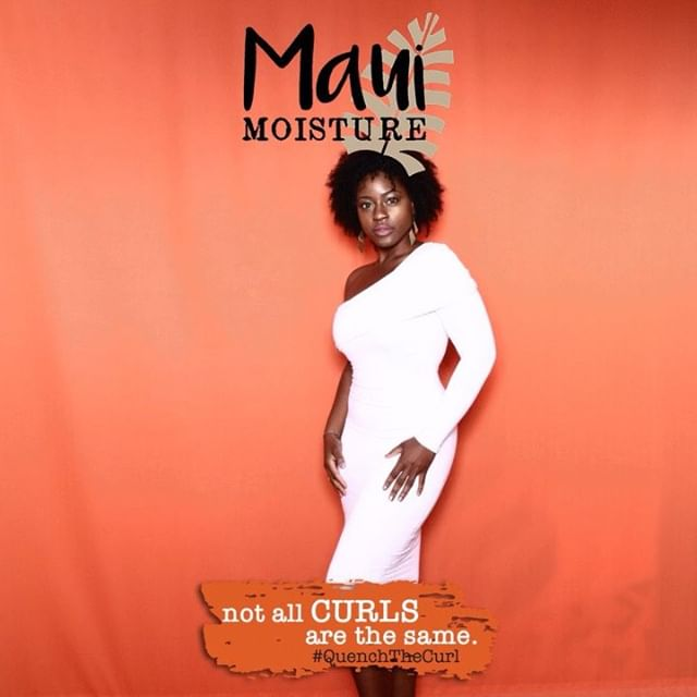 Serving curls, curves, & confidence ✨@mauimoisture #QuenchTheCurl | 👗- @glamenvy . . . . . #curlygirl #naturalhair #bighair #curlynaturalhair #curlyfro #glamenvy #mauimoisture #printmodel #beautymodel #hairmodel #whitedress #styleinfluencer #hairinfluencer #beautyinfluencer #blackhair