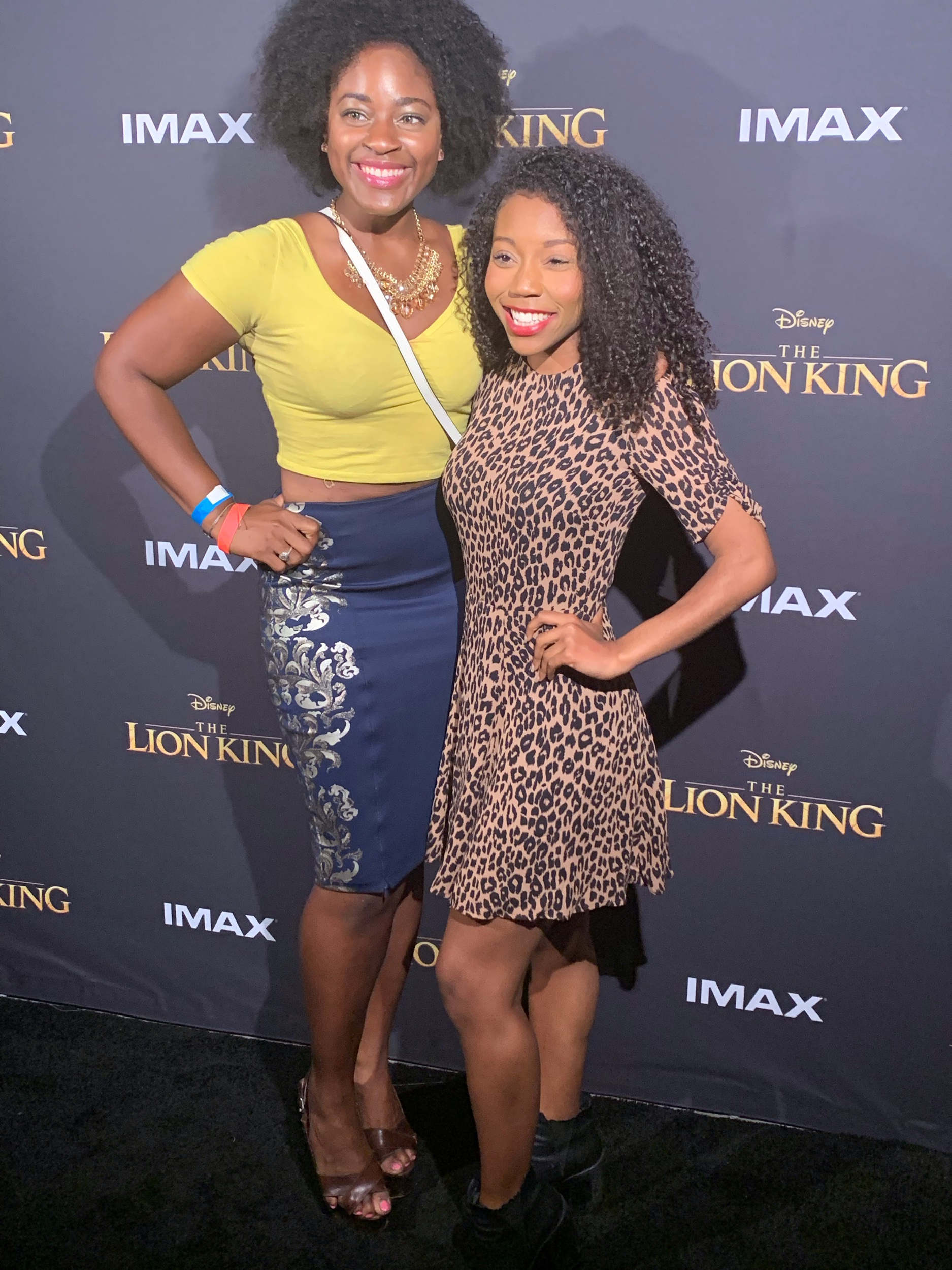 "TV Host and Actress Vivian Nweze  and Actress Arianna Jonae at ""The Lion King"" Advanced Screening at IMAX Headquarters"