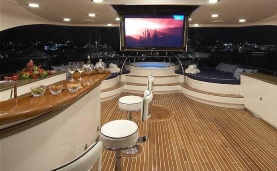 Luxury Charter Yacht Lady Leila Fly Bridge Bar