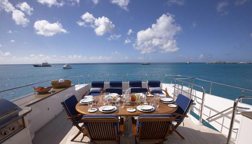 Luxury Charter Yacht Lady Leila Aft Deck
