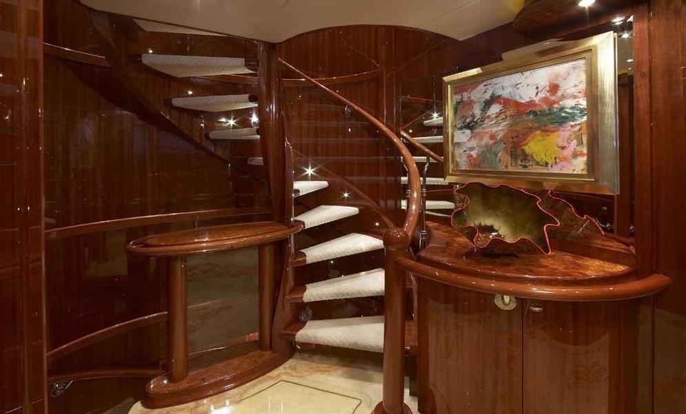 Luxury Charter Yacht Lady Leila Below Deck Foyer
