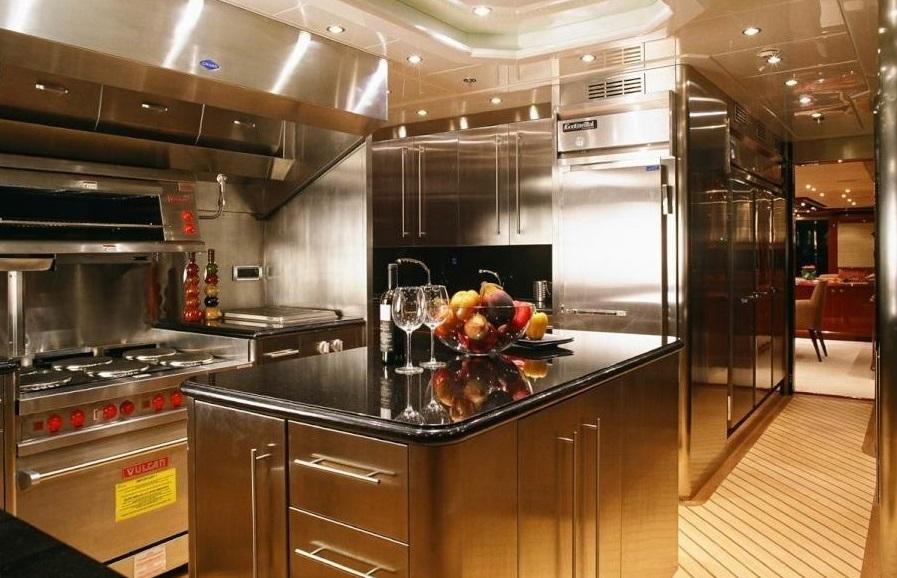 Luxury Charter Yacht Lady Leila Galley
