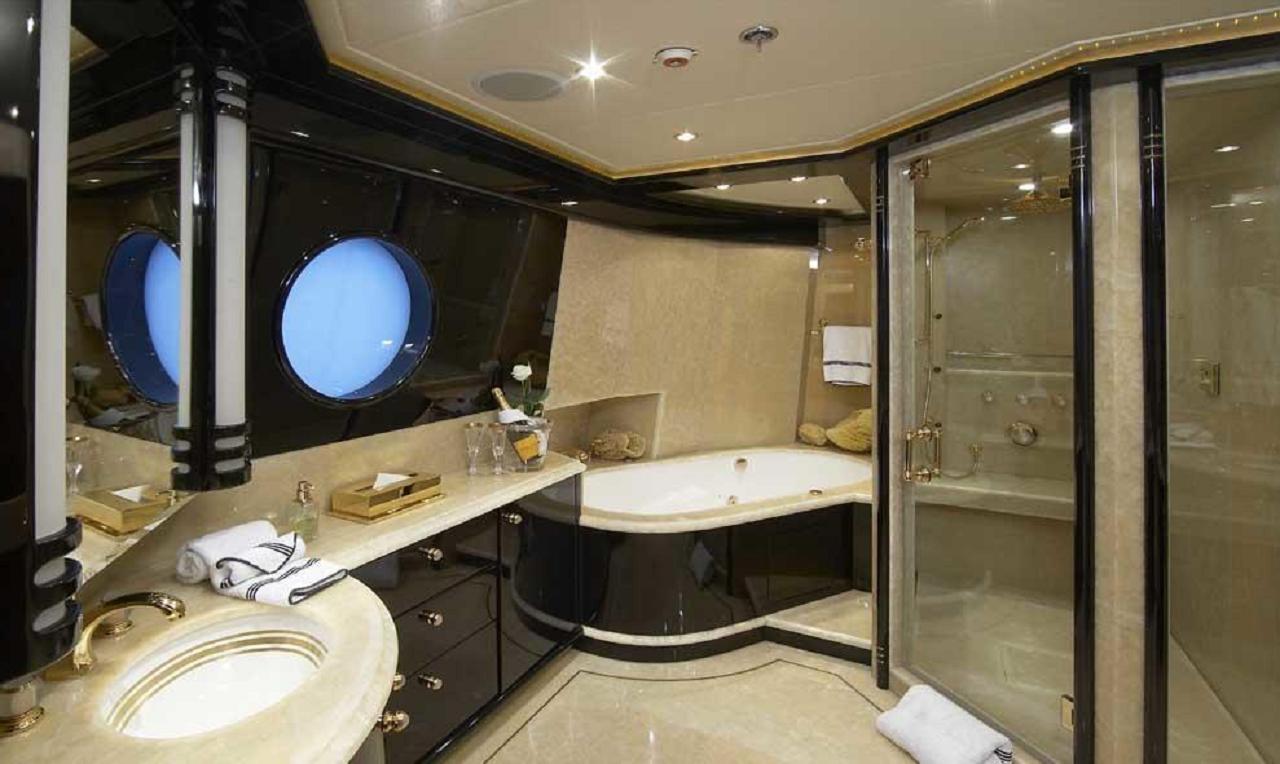 Luxury Charter Yacht Lady Leila Bridge Deck En Suite Master Bath