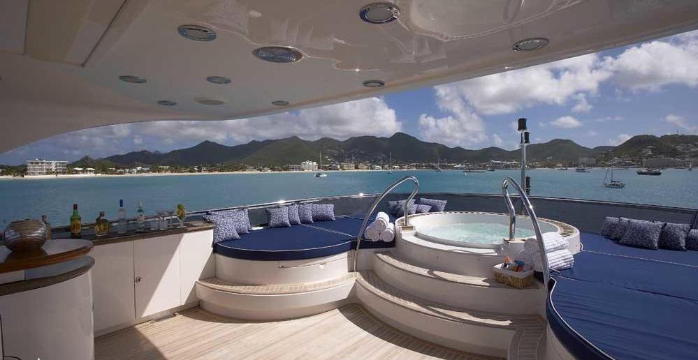 Luxury Charter Yacht Lady Leila Fly Bridge Jacuzzi