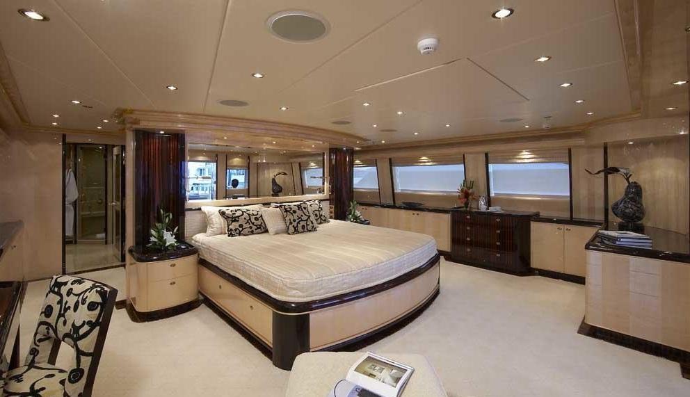 Luxury Charter Yacht Lady Leila Bridge Deck Master Stateroom