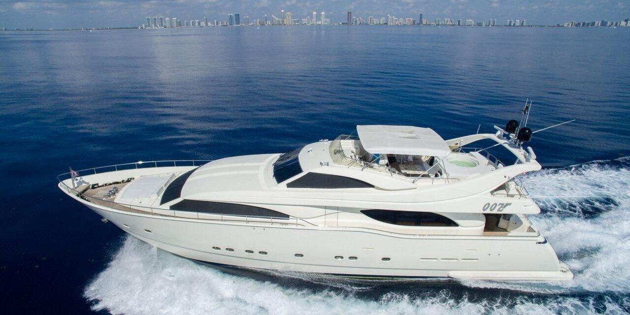M/Y OOZ   Sexy Ferretti custom line, GREAT VALUE, priced to charter!