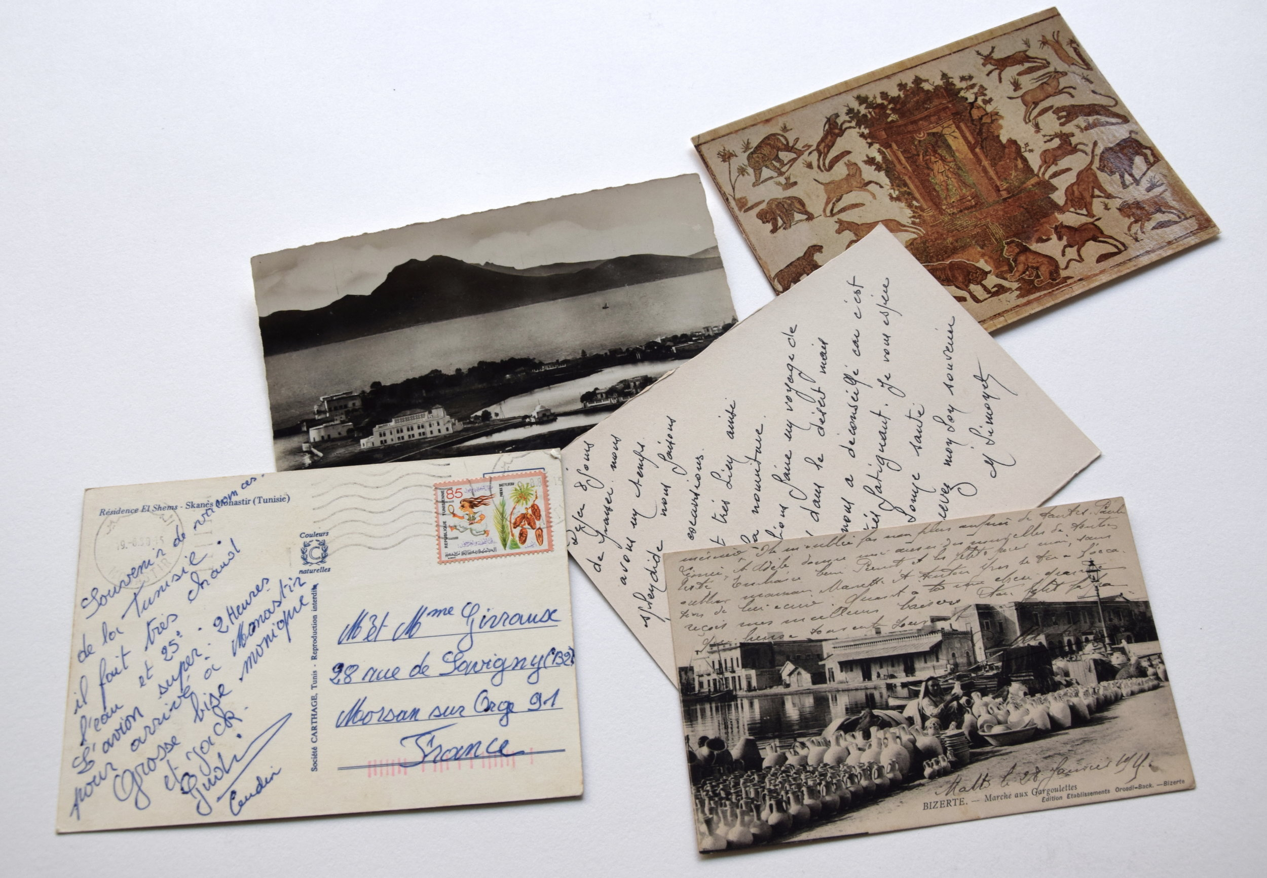 Postcards from the artist's studio.