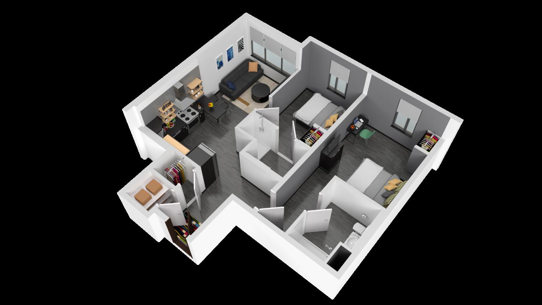 3D Rendering of Comstock Floor Plan