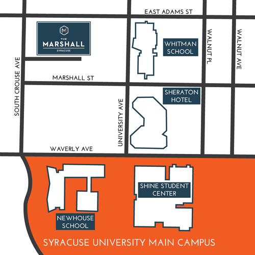 2D map of The Marshall location