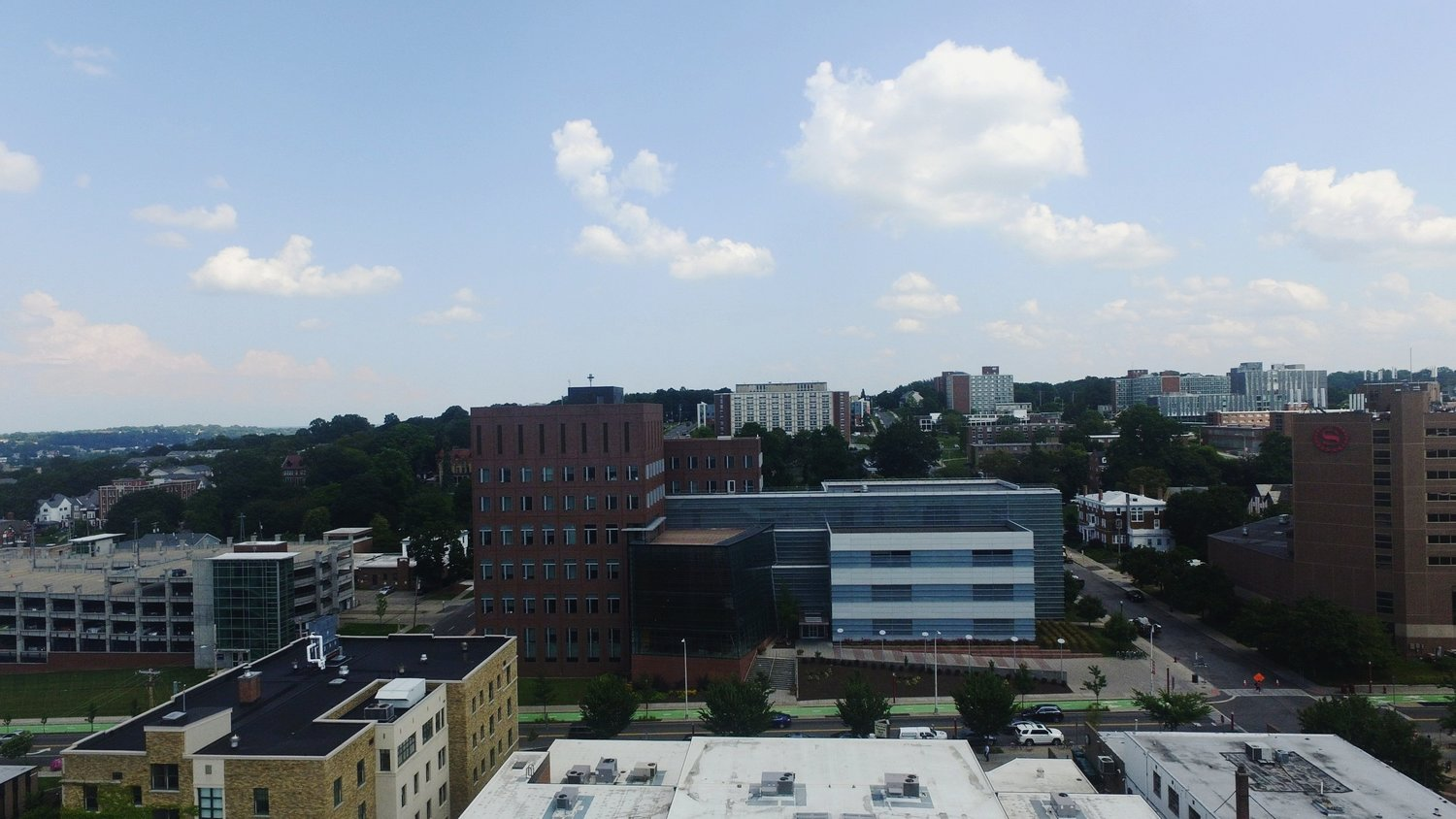 View from atop The Marshall SU building