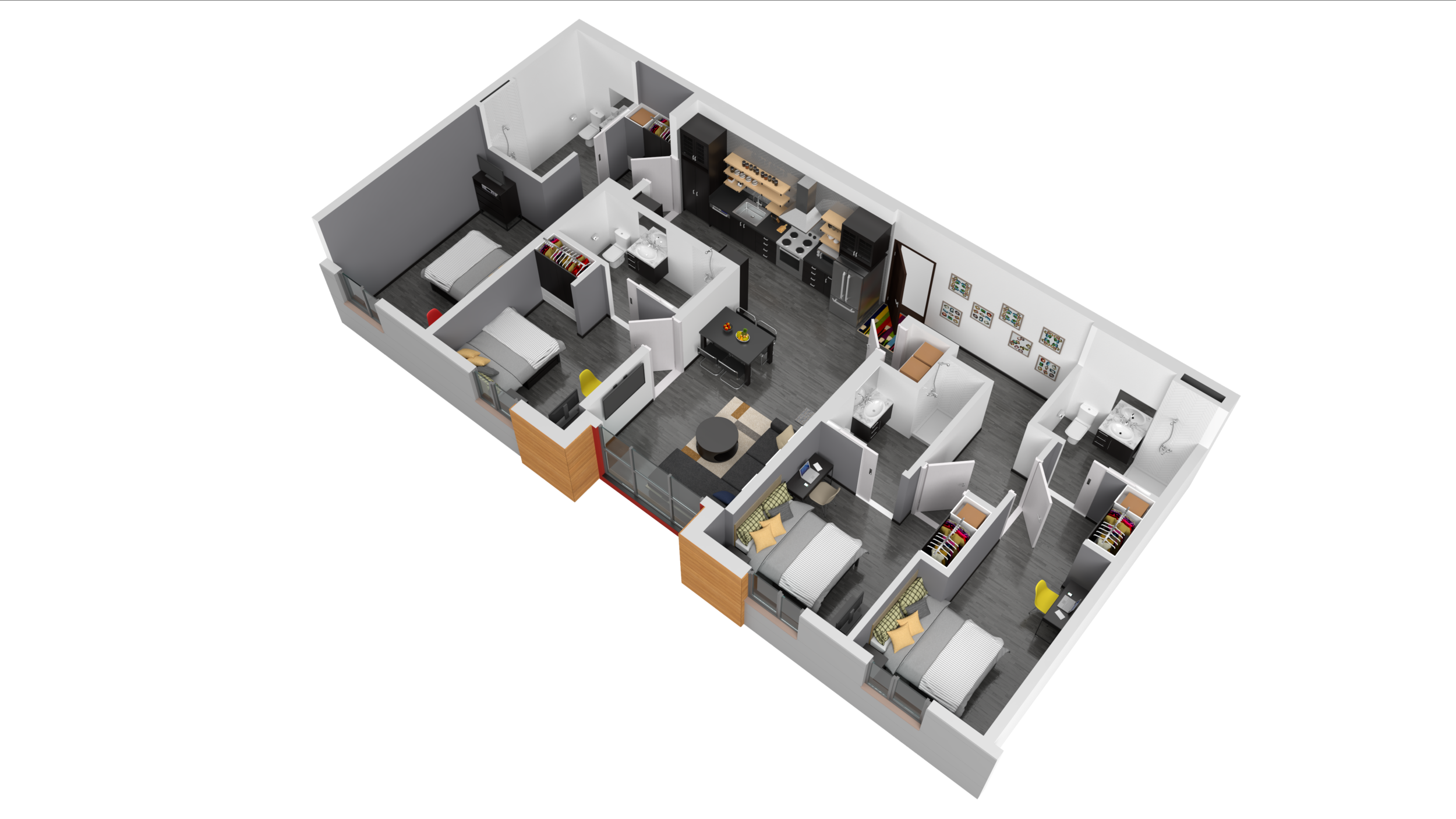 3D Rendering of Harrison Floor Plan