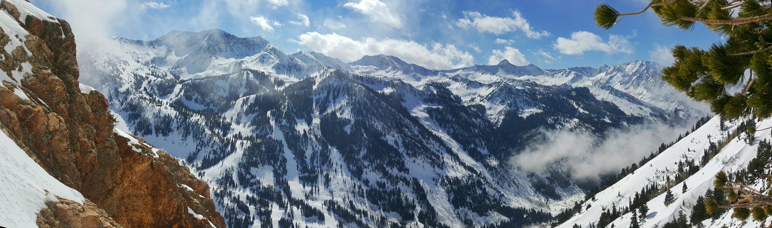 Panorama of Alta & Snowbird across from Mt. Superior.