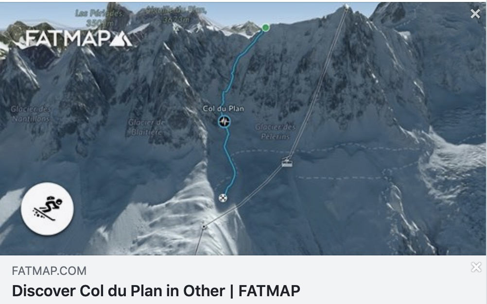 The  Col Du Plan freeride route