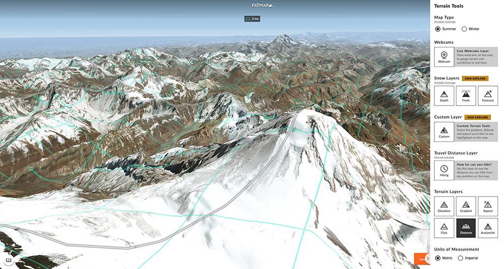Check out the world's longest ridge-line! (It's the Andes btw…)
