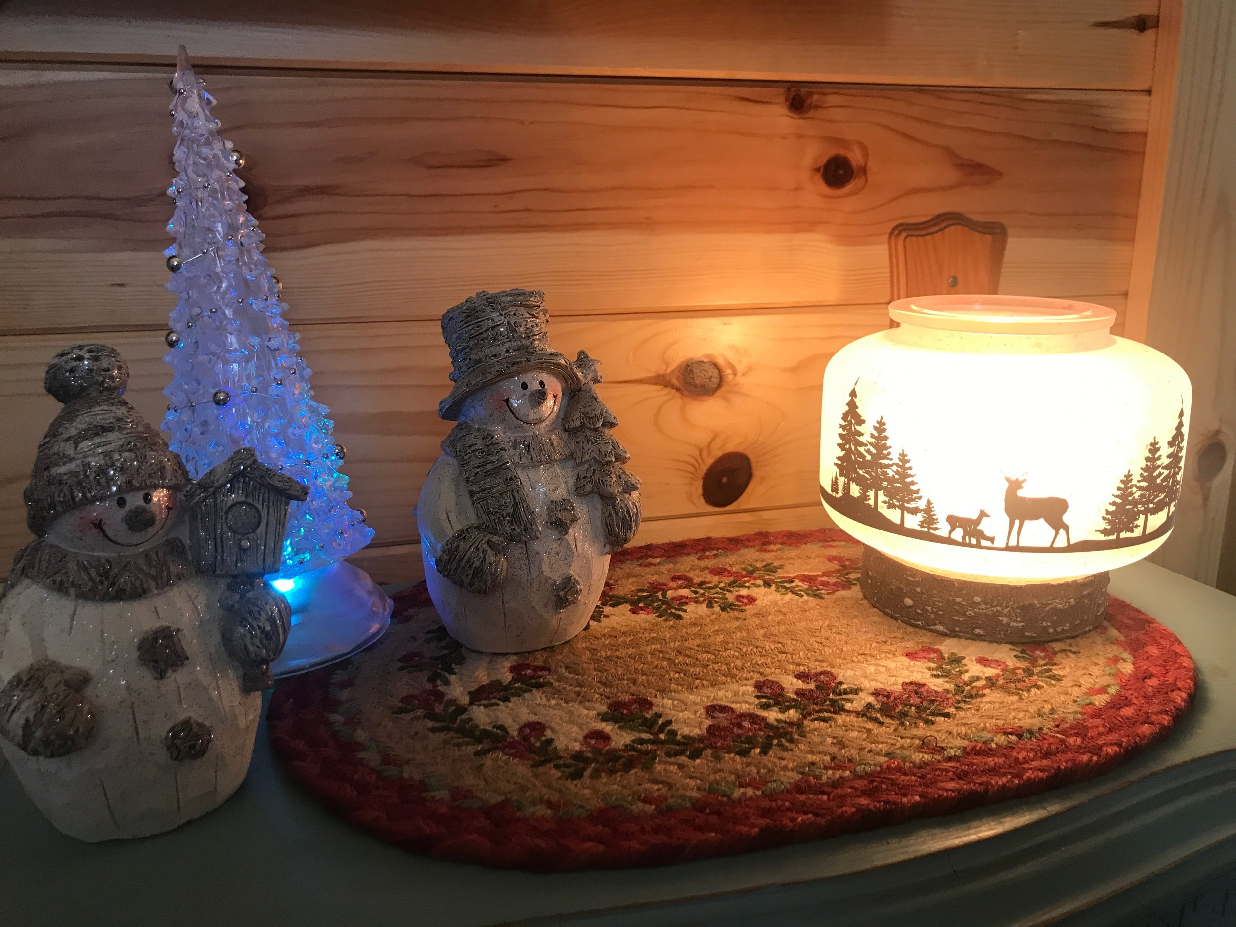 Ruth's own photos of some warmers in her home. Scentsy  Wildlife Warmer , located on right side