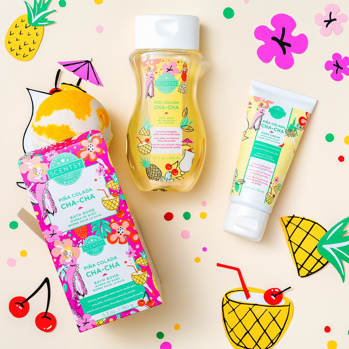 pina colada cha-cha spa bundle for mothers day scentsyjpg
