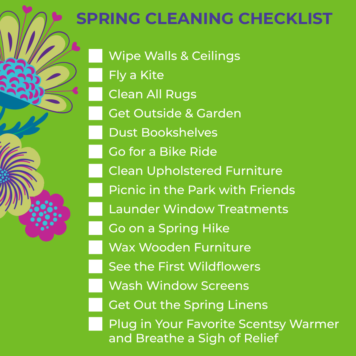 spring cleaning with scentsy
