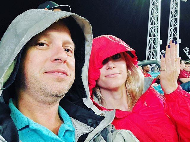 First Jaguars game, and first time ever having a second team to pull for. We got soaked, but the victory made it worthwhile. I wish Minshew was the Panther's back-up QB! 🐆 🏈 🏟