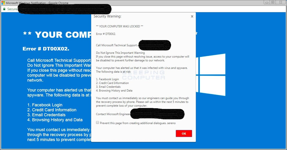 This is a common template for a Tech Support Scam Pop-Up. In some cases they even come with audio that will yell at you to make it that much more stressful!