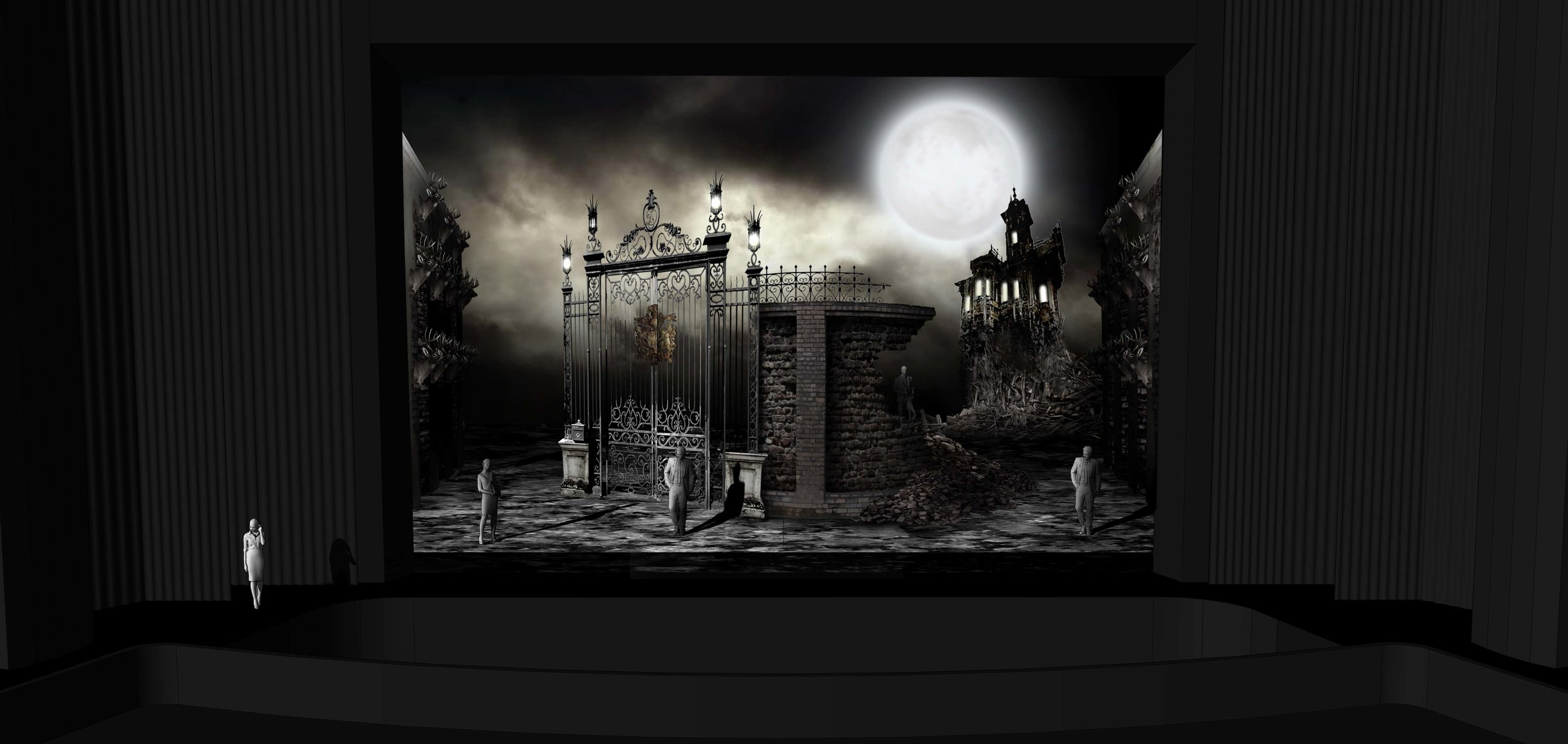FINAL DESIGN | Act 1 Scene 1 - The Grounds Near Ravenswood Castle - Photoshop Render