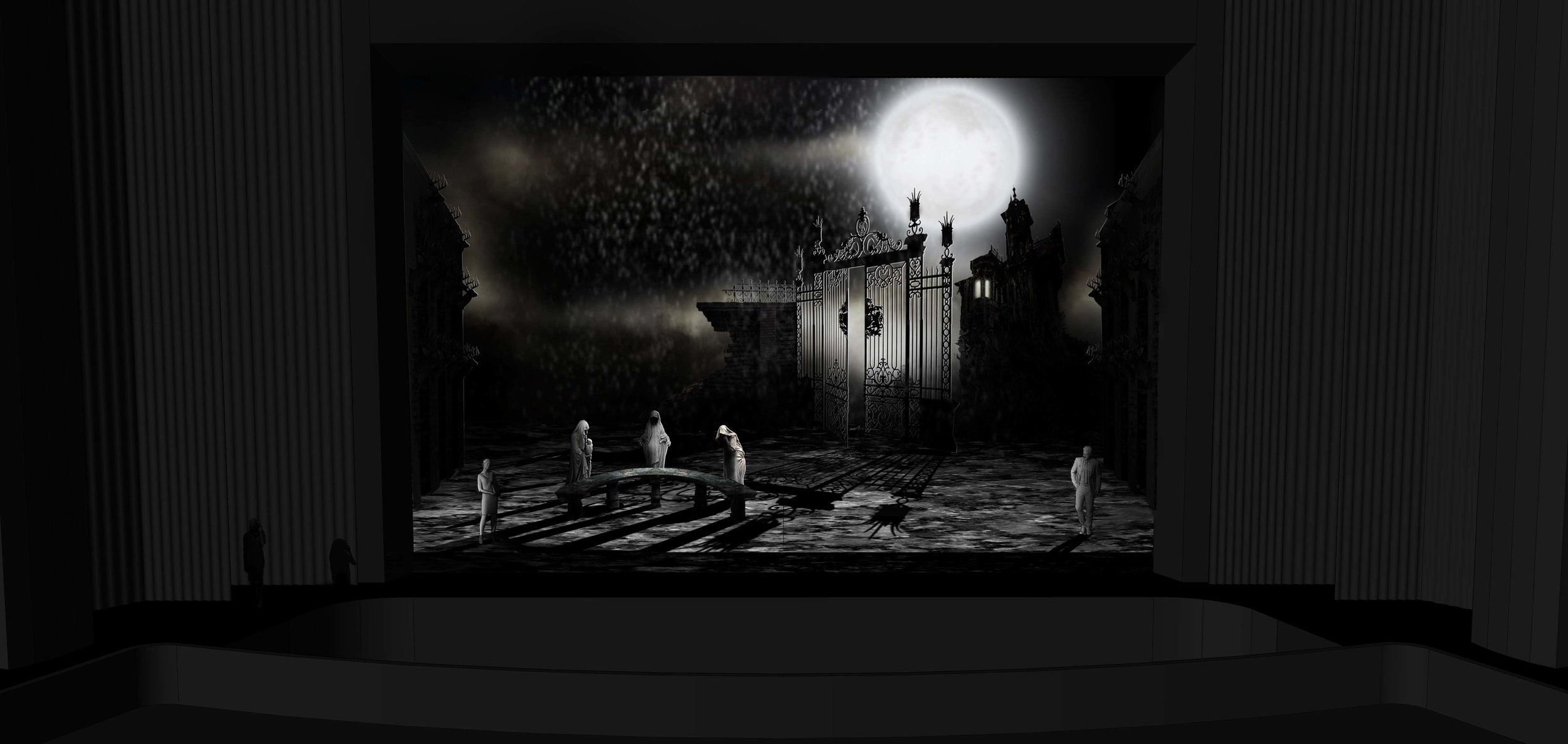 FINAL DESIGN | Act 1 Scene 2 - The Grounds Near Ravenswood Castle - Photoshop Render
