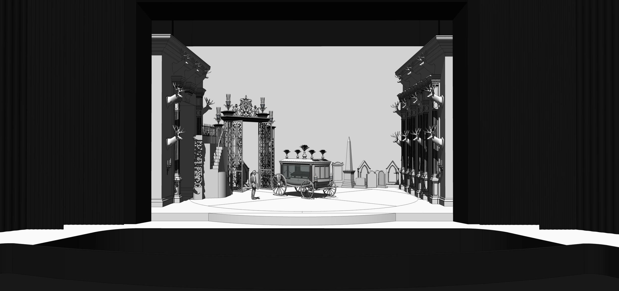 FINAL DESIGN | Act 3 Scene 2 - The Tombs of Edgardo's Ancestors - SketchUp Model