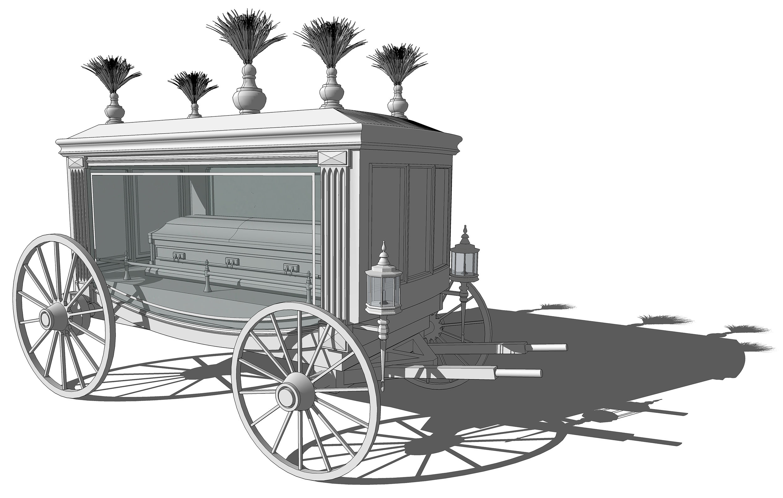 FUNERAL CARRIAGE - SketchUp Model
