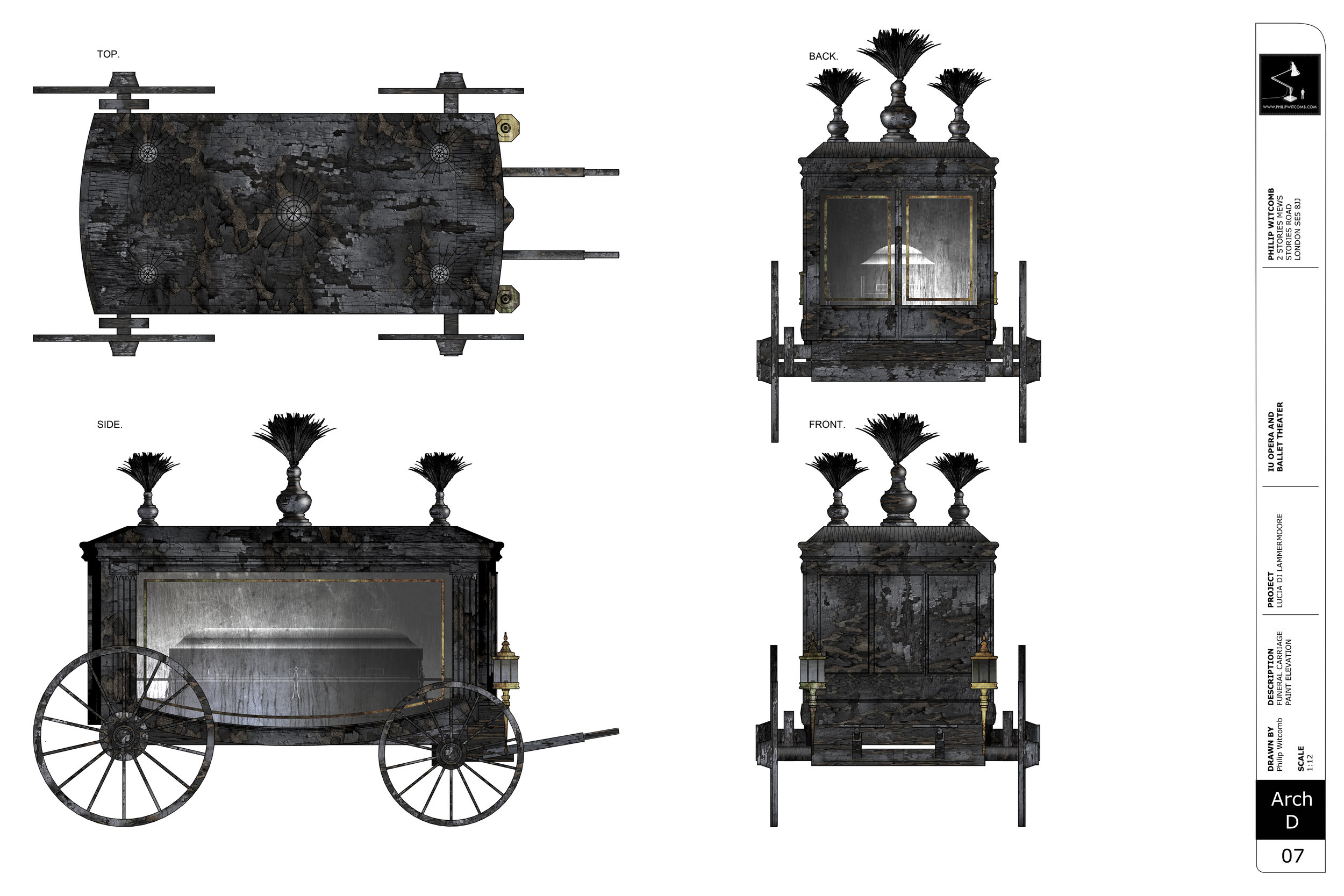FUNERAL CARRIAGE - Paint Elevation