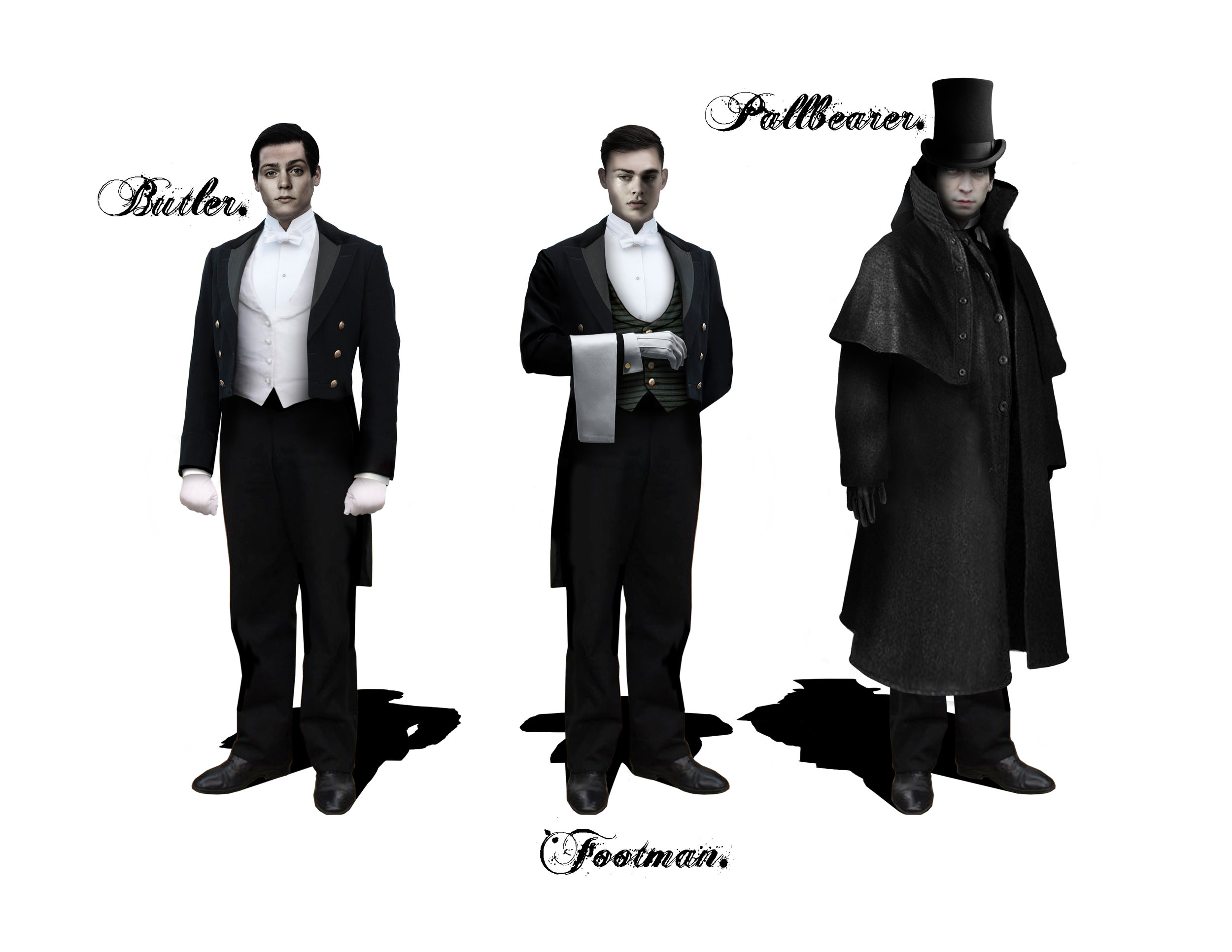 BUTLERS & PALLBEARER - Costume Designs