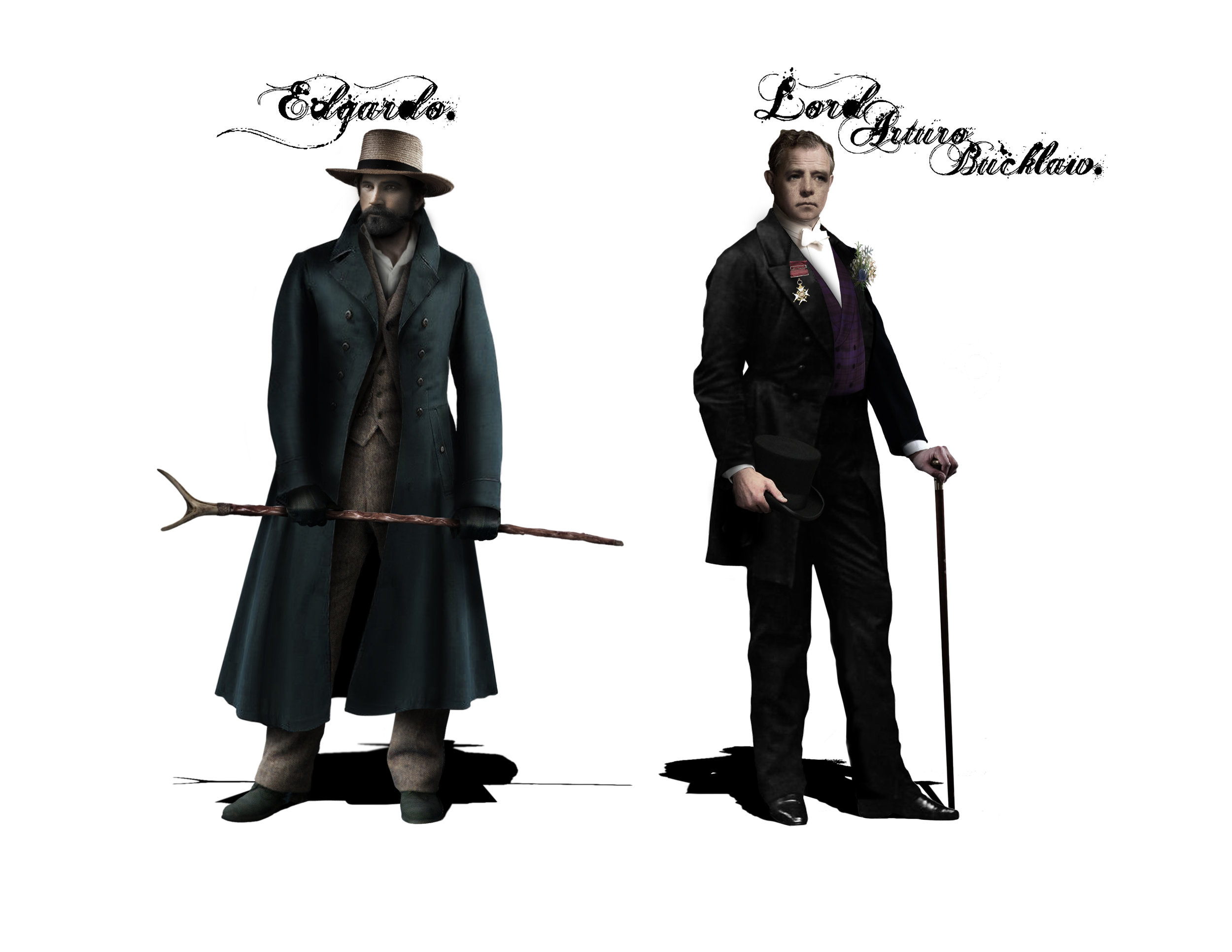 EDGARDO & LORD BUCKLAW - Costume Designs