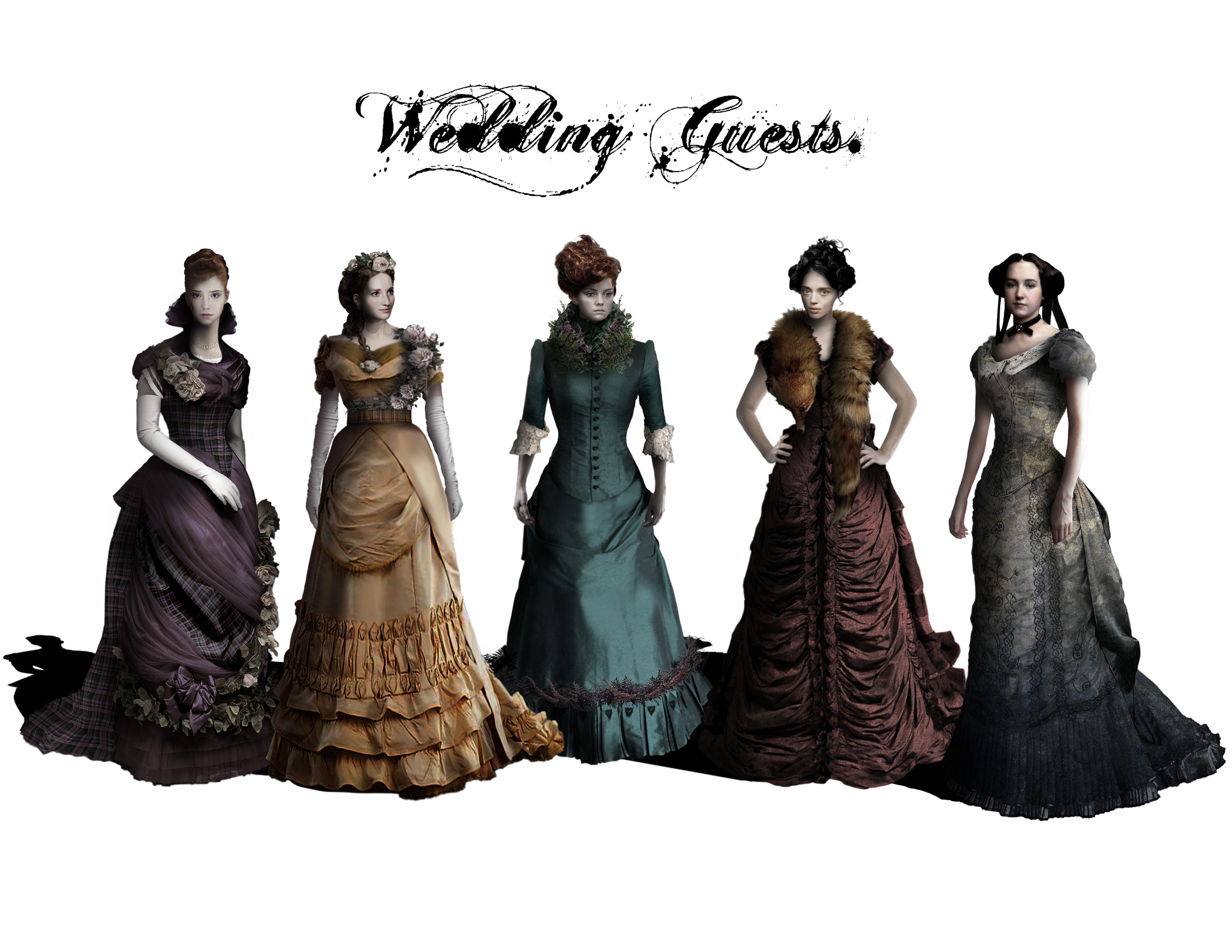 WEDDING GUESTS - Costume Designs