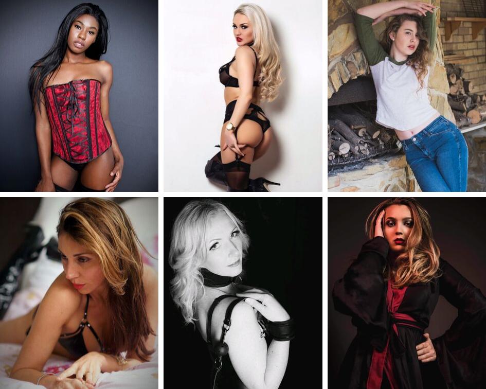 Models (L to R): Jasmine Loretta, Ashley Jay, Jessica Taylor, French Chloe, Lady Latex P, Georgia Allard