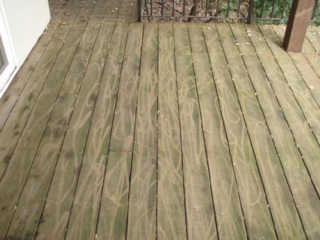 Wood Decks - This is what happens when power washing is put in the hands of a novice. As said prior, these are POSSIBLE outcomes. But why risk it when it can be done correctly the first time!