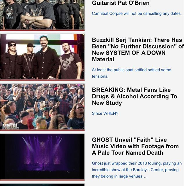 Thank you so much Metal Injection for sponsoring Twin Sages new music video right next to legendary metal bands System Of A Down, Cannibal Corpse, and Ghost! It's amazing to see our video picking up heat. #twinsagestheband #metalinjection #metal #hardrock #thebandghost #systemofadown #cannibalcorpse #metalnews #sozodiamond