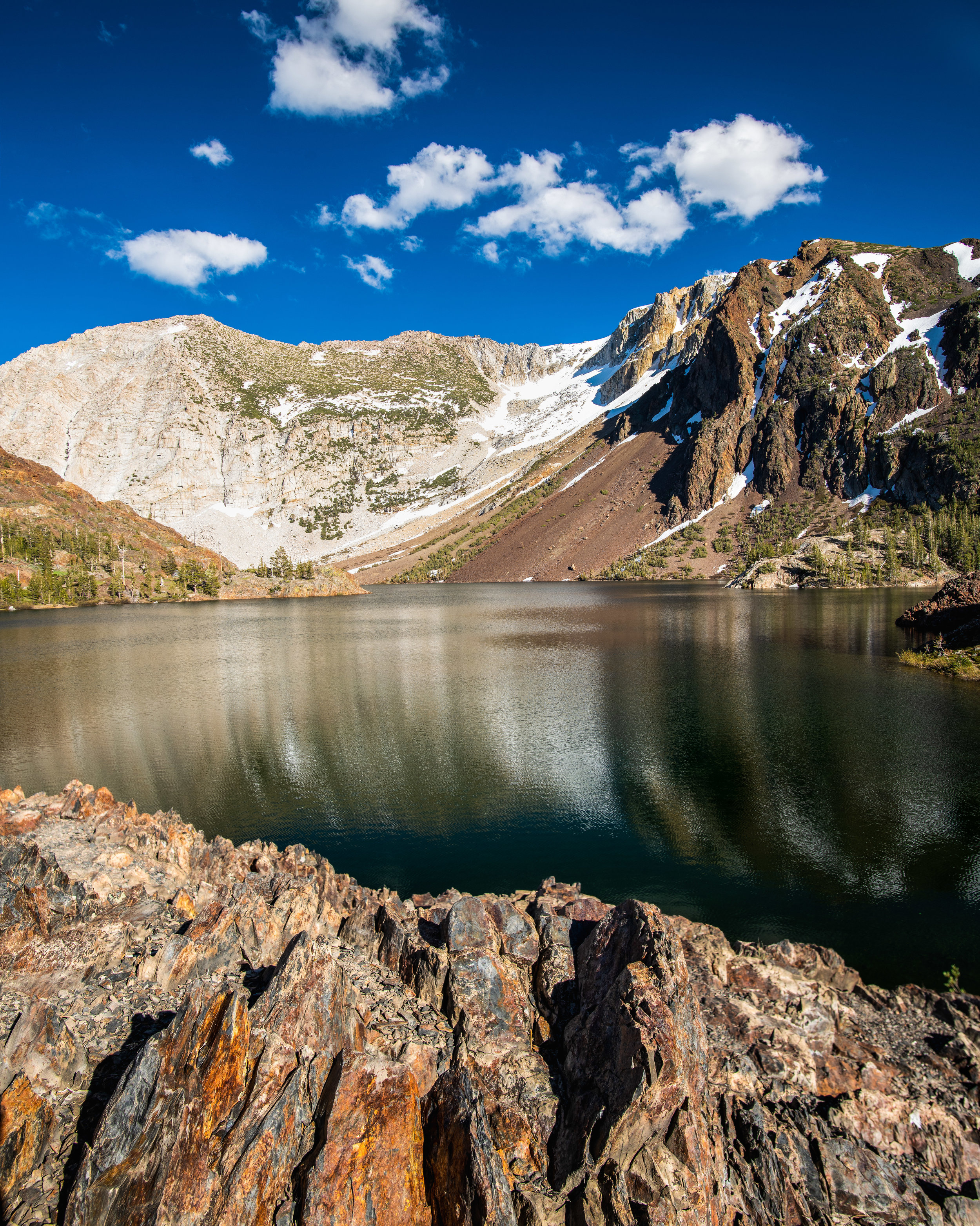 """Ellery Lake at Tioga Pass ((1/50 sec at f/8.0, iso64, 20mm len with polarizer) GPS coordinate: 37°56'21.8""""N 119°14'29.8""""W"""