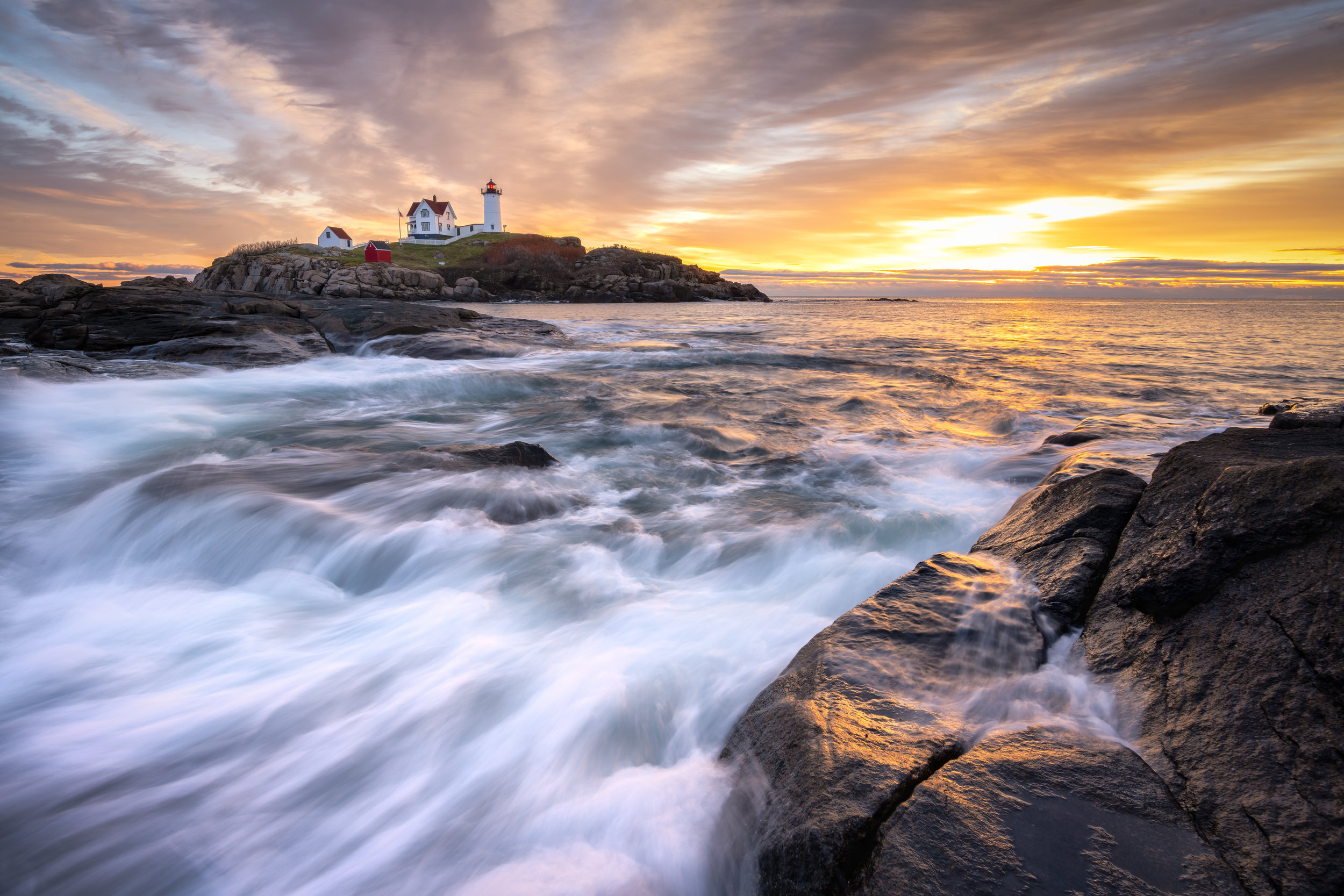 Sunrise Nubble Lighthouse