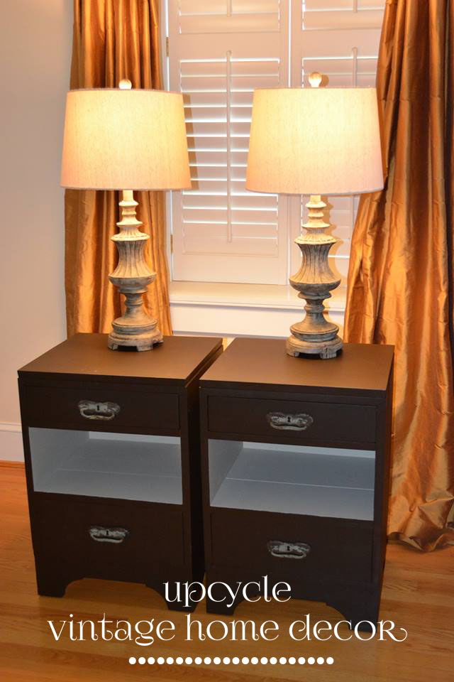 Flea Market nightstands painted in Fusion Chocolate and Champness.
