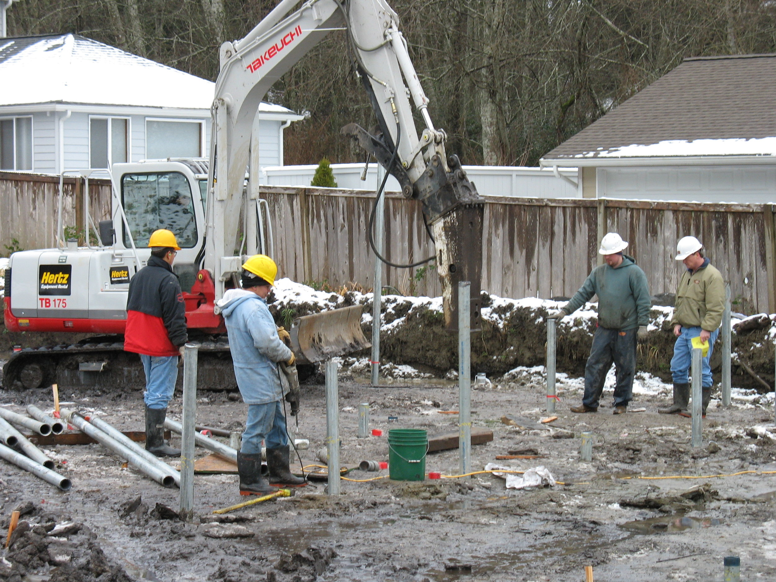 Port Orchard-Foundation Support with Pin Piles.JPG
