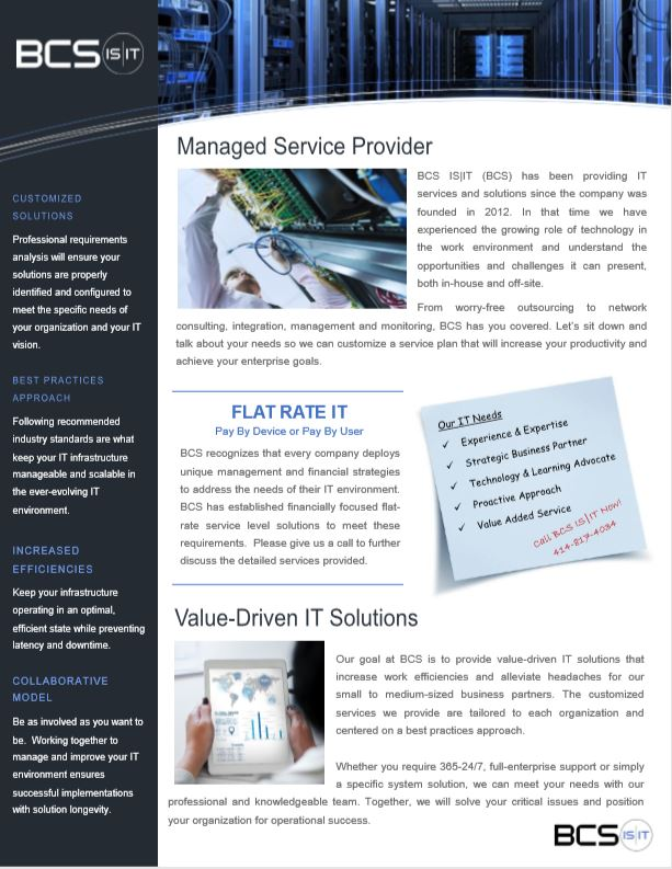 Manages Service Provider -