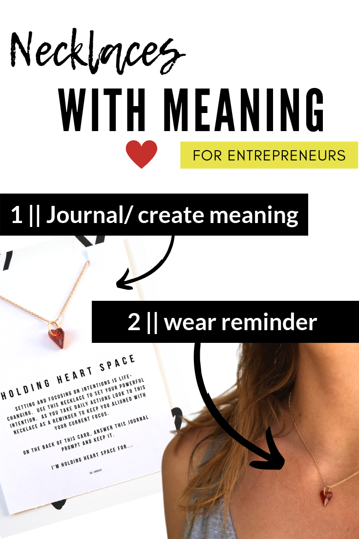 necklaces with meaning for entrepreneurs