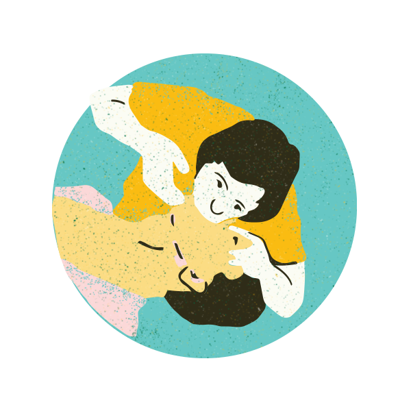3. Ventilate - If this person is not breathing, plug their nose, tilt the head back, cover mouth with protective mask or clothing and provide 1 breath every 5 seconds for 2 minutes. You should see the chest rise with each breath.