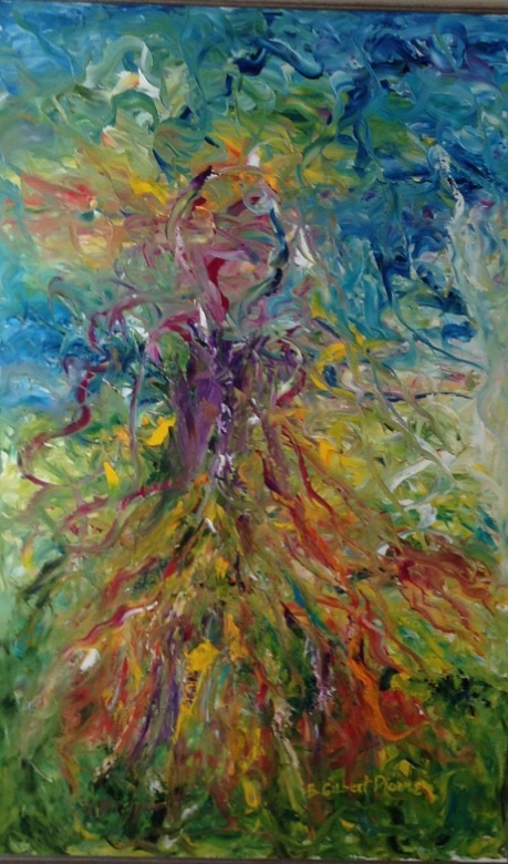 Well Hello Spring Oil on  Canvas 48x30 Sold
