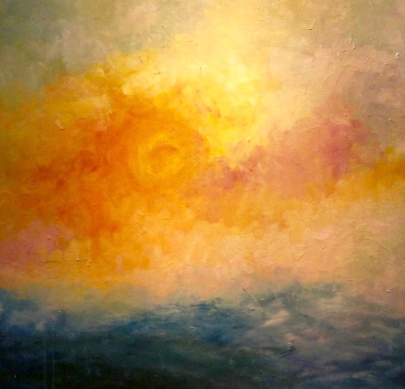 A New Day Has Begun OIl on Canvas 36 x36  (sold)