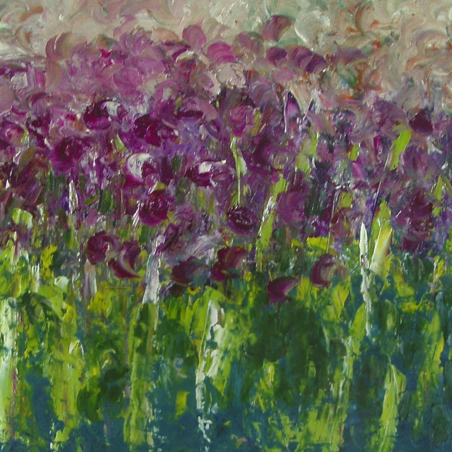 Chives in Bloom Along River Road (sold)