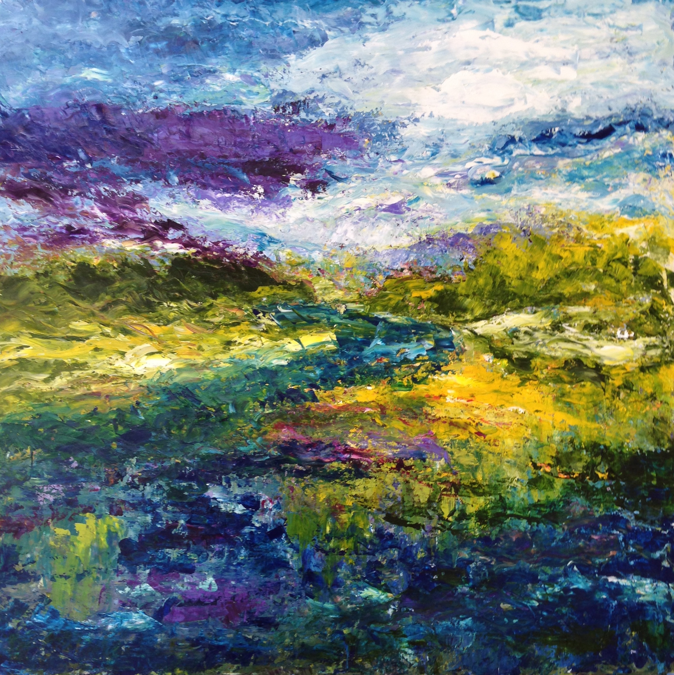 Approaching Storm Over River Valley (sold)
