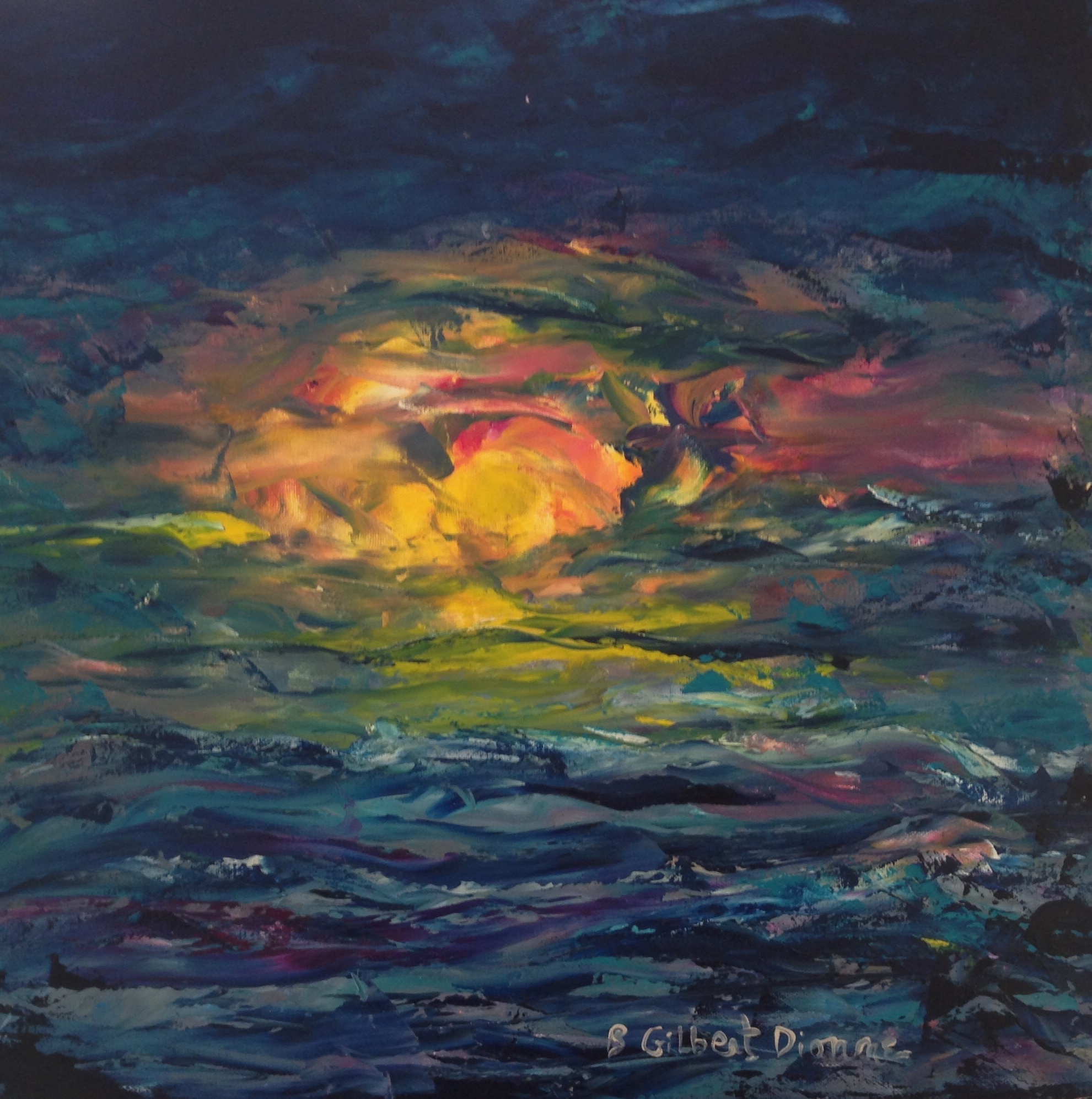 Sunset Over the Left Bank (sold)