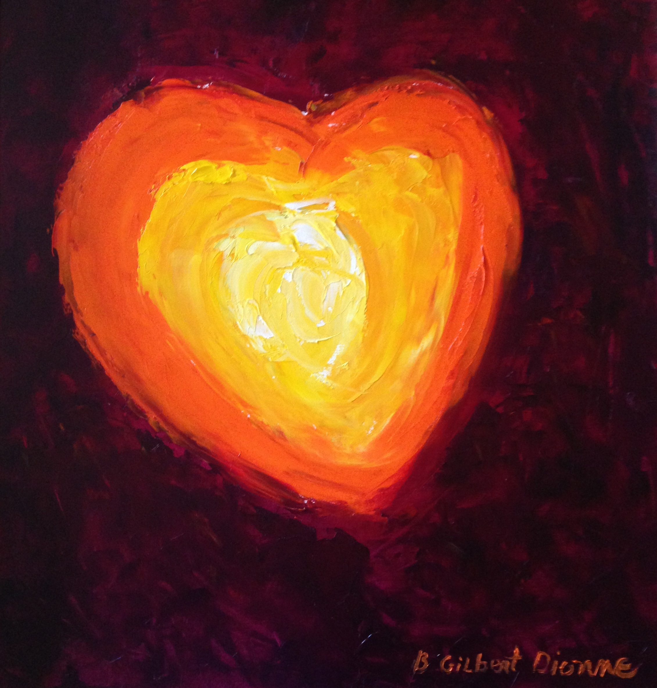 Heart Of My Heart  24 x 20  OIl on Canvas    SOLD