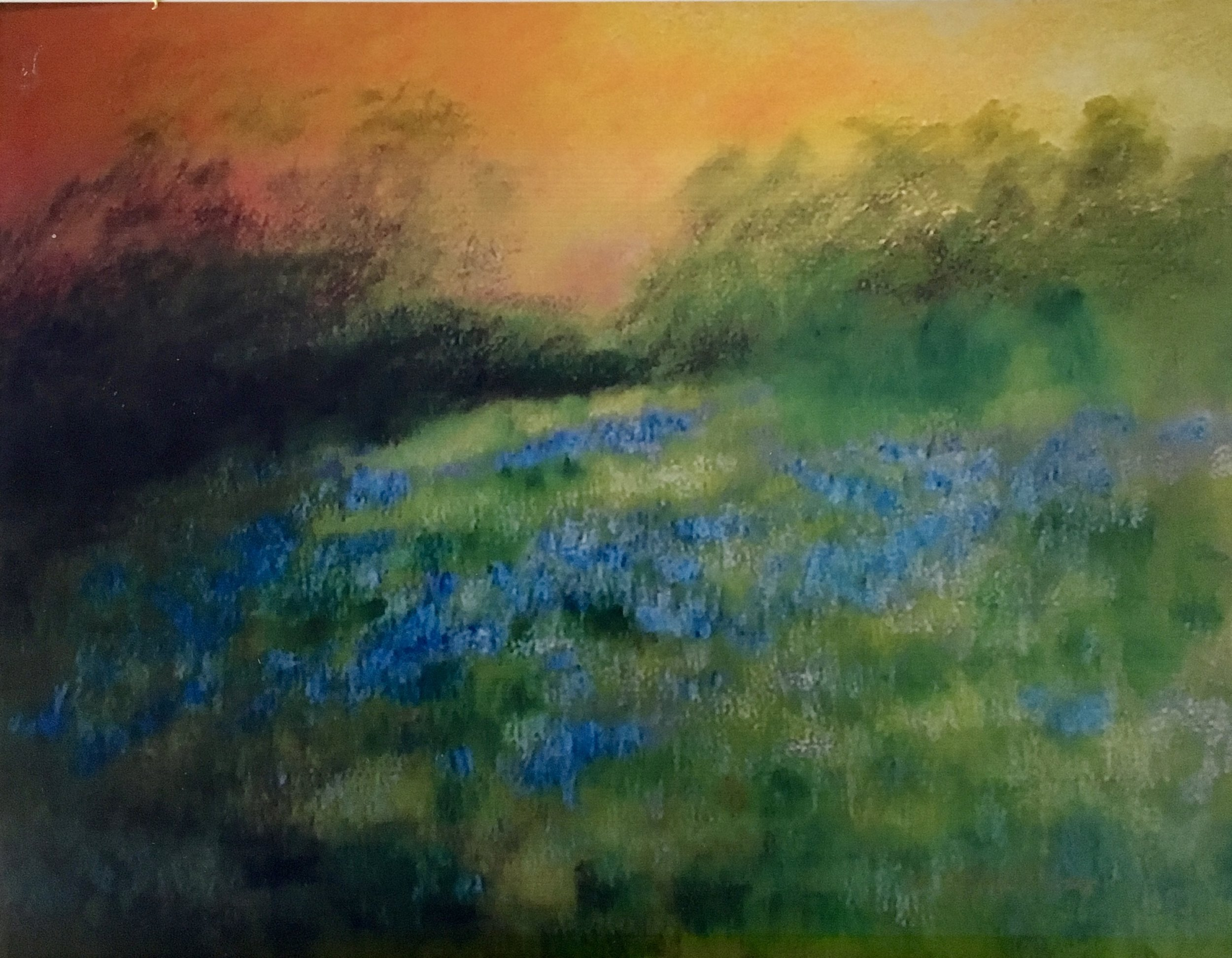 Wild Hyacinths On the Hill 36x40 Sold