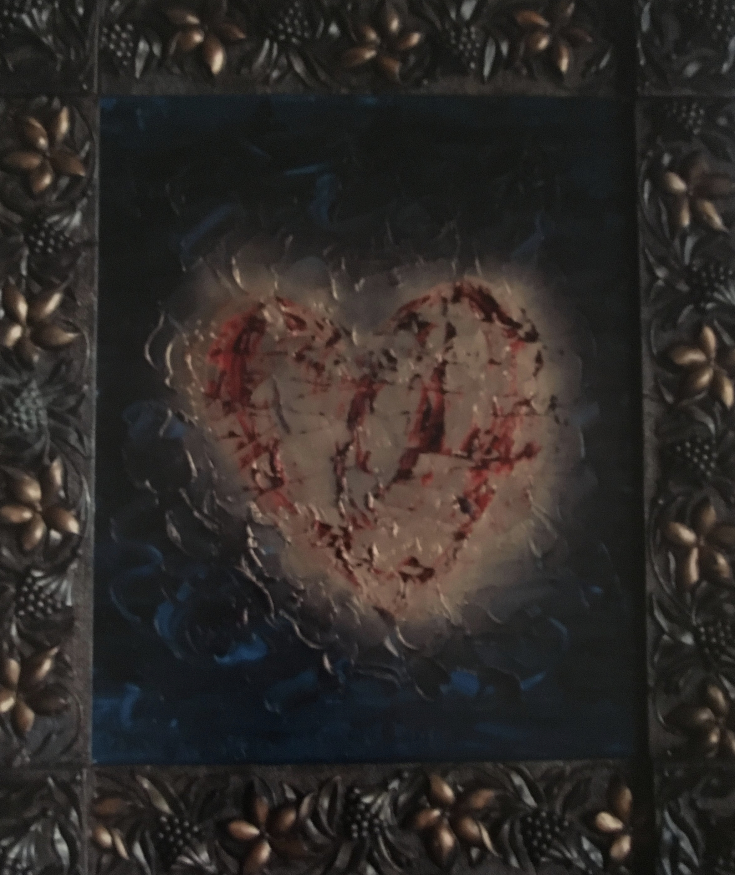 Heart of Gold: antique frame 24x20 Sold